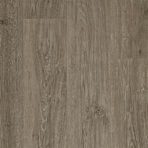 Resilient vinyl plank flooring with refined oak look