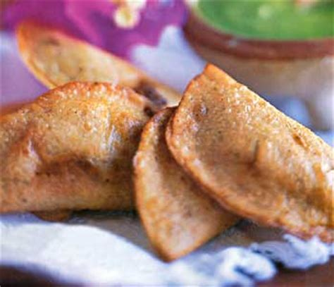 fried quesadilla fried quesadillas with two fillings recipe epicurious com