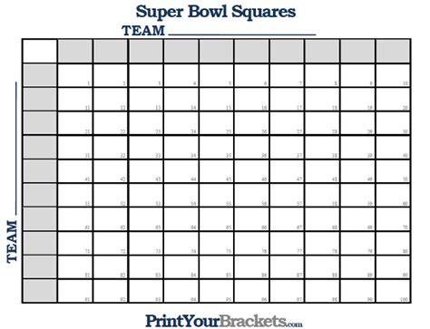 super bowl squares numbered