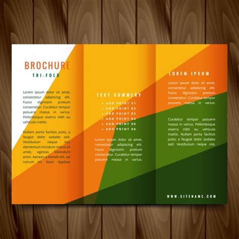 Abstract Colorful Brochure Design Template Vector Tri Fold Colorful Shapes Vector Trifold Brochure Design