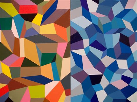 Abstract Painting Using Shapes by Design Faith Kevin Bean Journey To The Edges Of Color