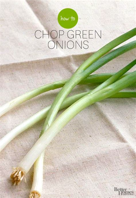 chop green onions how to chop green onions