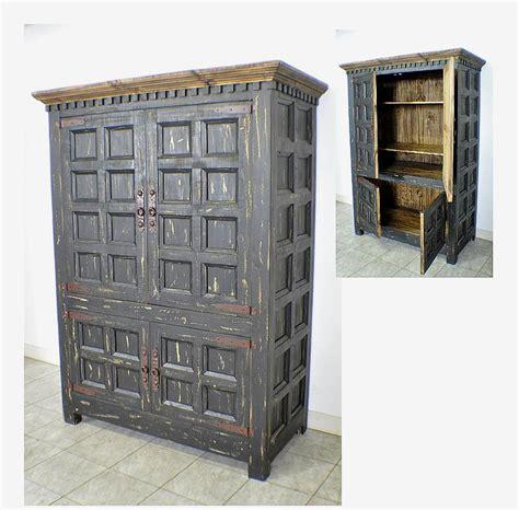 Black Wardrobe Cabinet - rustic pine 2 door armoire wardrobe closet w