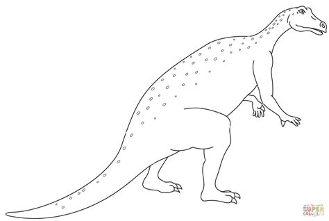 Gallimimus Kleurplaat by Iguanodon Page Coloring Pages