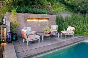 outdoor design trend 23 fabulous concrete pool deck ideas With delightful decoration terrasse de jardin 8 deco cheminee avec insert