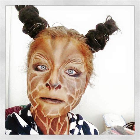 kinderschminken vir gesicht giraffe makeup tutorial kinderschminken in 2019