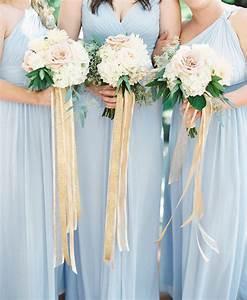 Sky Blue And Gold Princess Wedding