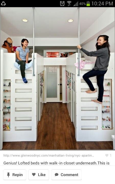 closet loft bed bunk beds with closets underneath
