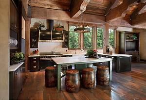 Cabin, Decor, Rustic, Interiors, And, Log, Cabin, Decorating, Ideas