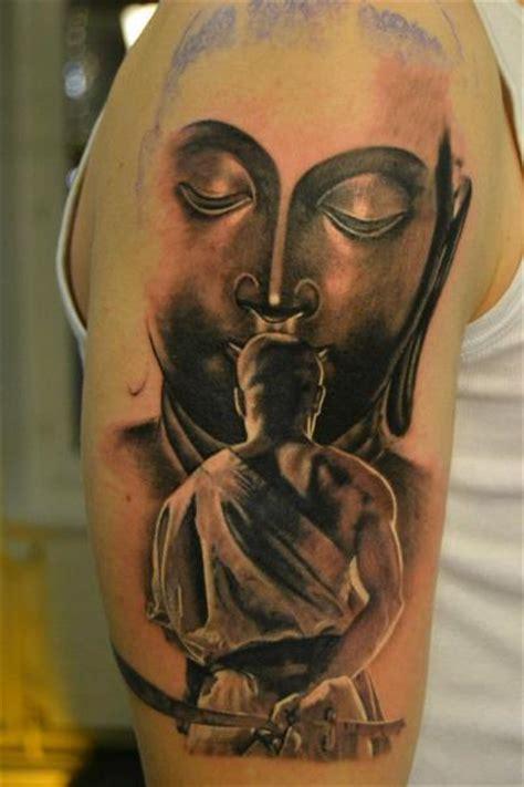 arm buddha samurai tattoo   skin