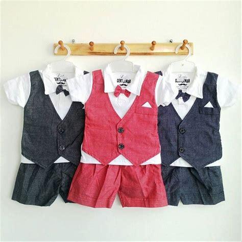 jual baju bayi setelan jas tuxedo pesta kondangan anak