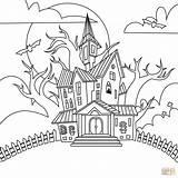 Coloring Haunted Printable sketch template