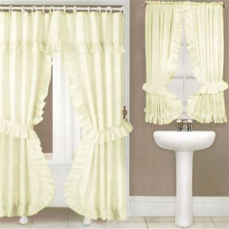 double swag shower curtainshower curtain  carnation