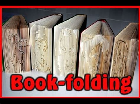 tutorial book folding buecher falten youtube