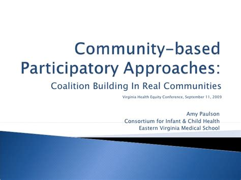 community based participatory approaches coalition