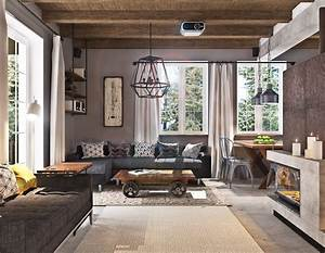 Industrial living room design dgmagnetscom for Designing your living room ideas