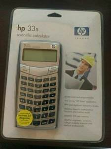 Hp 33s Scientific Calculator User U0026 39 S Guide Manual For Sale