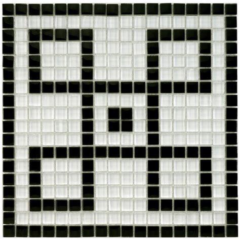 merola tile tessera white key 11 3 4 in x 11 3 4 in x 8 mm glass mosaic mural tile