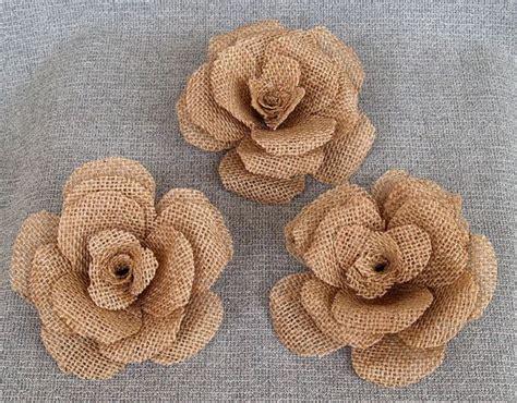 large burlap flower rustic wedding decoration craft
