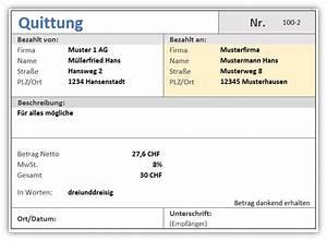 Rechnung Ins Ausland : quittung quittungsverwaltung als excel vorlage alle ~ Themetempest.com Abrechnung