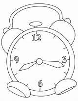 Clock Coloring Alarm Grandfather Printable Getdrawings Getcolorings sketch template