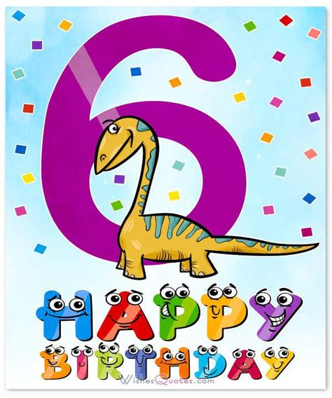 Happy Birthday Cards to 6 Years Old Boys