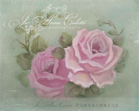 shabby chic paintings romantic rose paintings by jo anne coletti