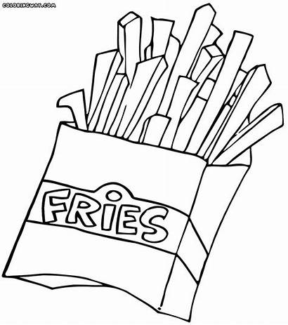Fries Pages Colouring French Salty Fast Coloring