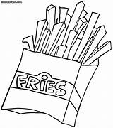 Fries Coloring Pages Food Fast Colouring French Salty Drawing Spicy Fry Printable Picolour Fastfood Print Awesome Photography Templates Getdrawings Template sketch template