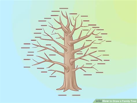 how to draw a family tree template how to draw a family tree 10 steps with pictures wikihow