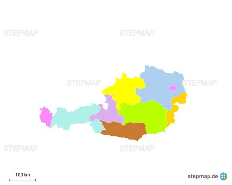 oesterreich bundeslaender von barbarabernhofer landkarte