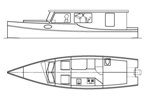 plywood barge boat plans  plywood