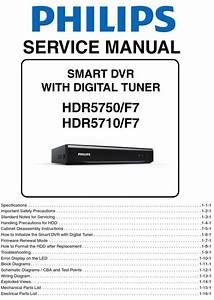 Philips Hdr5750 Hdr5710 Hdd Recorder Service Manual