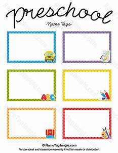 preschool preschool name tags and name tags on pinterest With preschool name tag templates