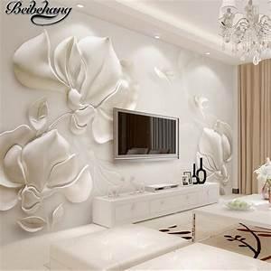 beibehang Custom 3d wallpapers three dimensional plaster ...