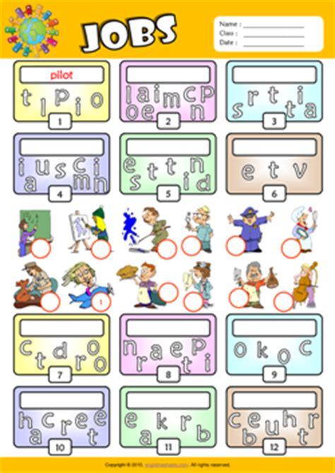 jobs esl printable worksheets  kids