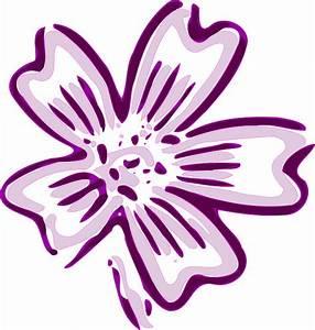 Purple Flowers Cartoon - ClipArt Best
