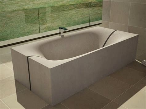 cement tub concrete tub that splits in the middle wave by dadedesign