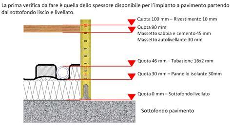 riscaldamento a pavimento spessore 11 ho a disposizione 10 cm di spessore disponibile per il