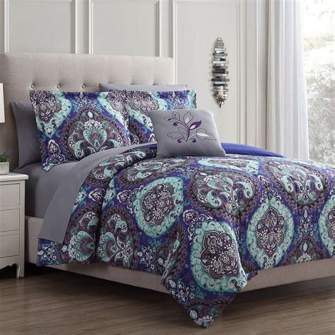 modern threads cathedral  piece reversible comforter set boscovs