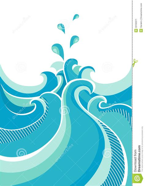 water designs abstract water waves vector illustration isolated stock vector illustration of beach