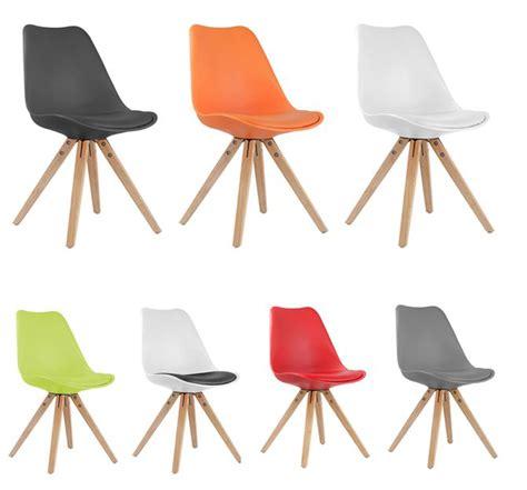 lot de 4 chaise chaise moderne style scandinave pitement bois riku