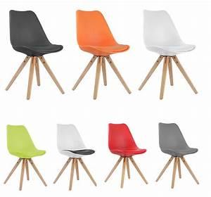 Chaise Scandinave Rouge : chaise moderne style scandinave pi tement bois riku ~ Teatrodelosmanantiales.com Idées de Décoration