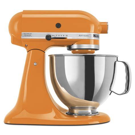 kitchenaid artisan  qt tangerine stand mixer ksmpstg