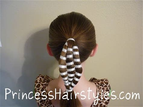 ribbon wrapped ponytail hairstyle hairstyles  girls