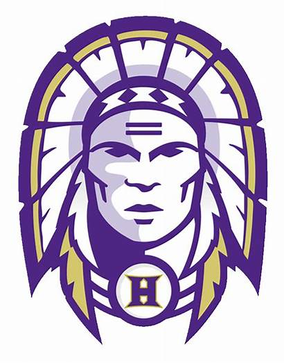 Hallsville Indians Logos Mshsaa County Purple Gold