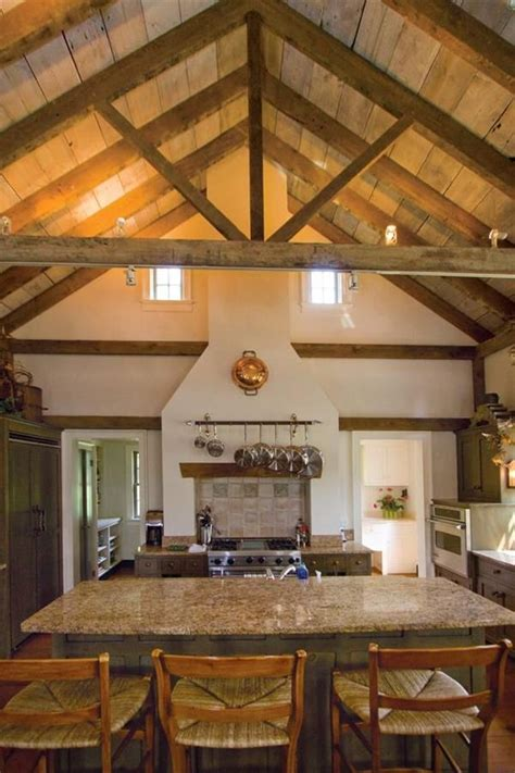 kitchen vaulted ceiling  open beams designs small