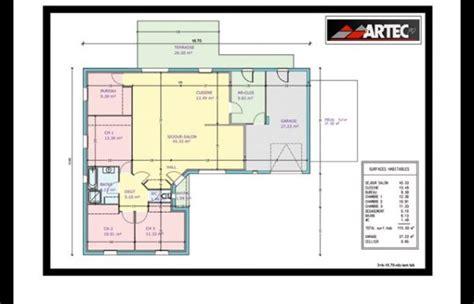 plan de maison 3 chambres salon plan maison 3 chambres dressing