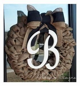 best selling year round cream wreath for front door wreath With monogram letter door wreath