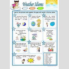 Weather Idioms Worksheet  Free Esl Printable Worksheets Made By Teachers